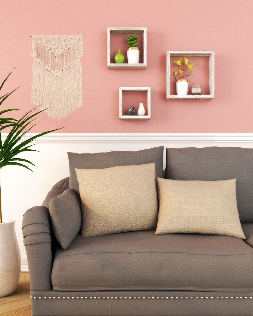 Simple pink and white wall decor ideas