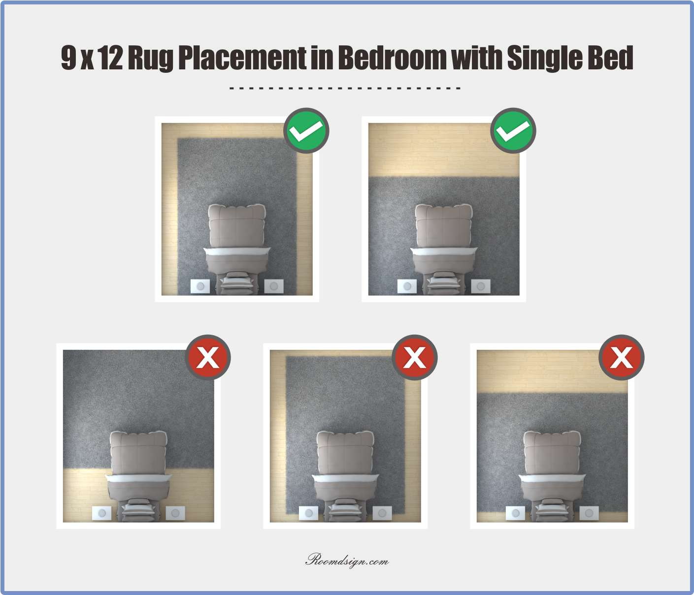 How To Place A Rug In A Bedroom Correctly Roomdsign Com