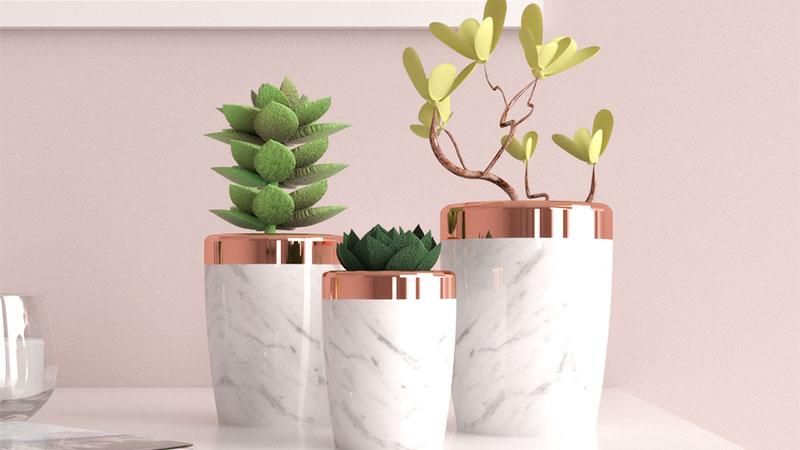 10 Gorgeous Rose Gold Vases Planter