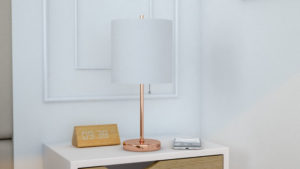 10 Beautiful and Glam Rose Gold Table Lamp for Bedroom