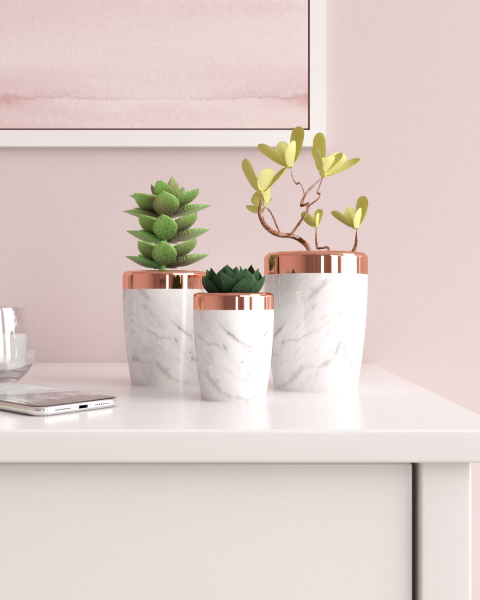 Best rose gold vases planter