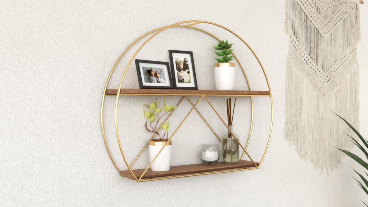 Best round wall shelves