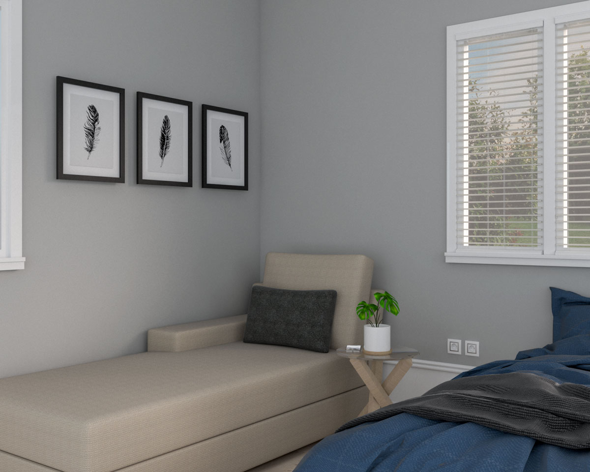 Bedroom corner with couch ideas
