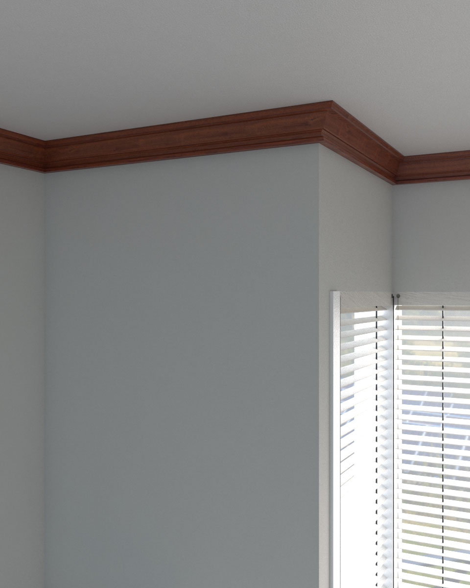 Classic stylish wood crown molding