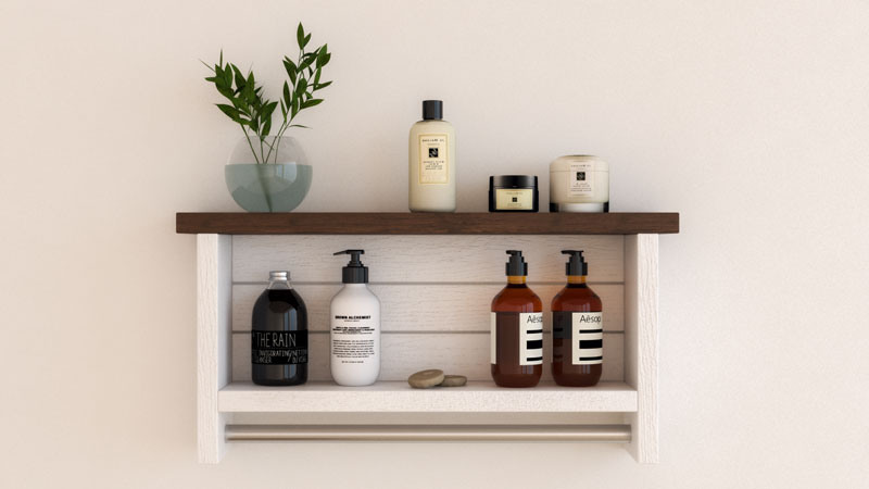 10 Best Farmhouse Floating Shelves for Bathroom