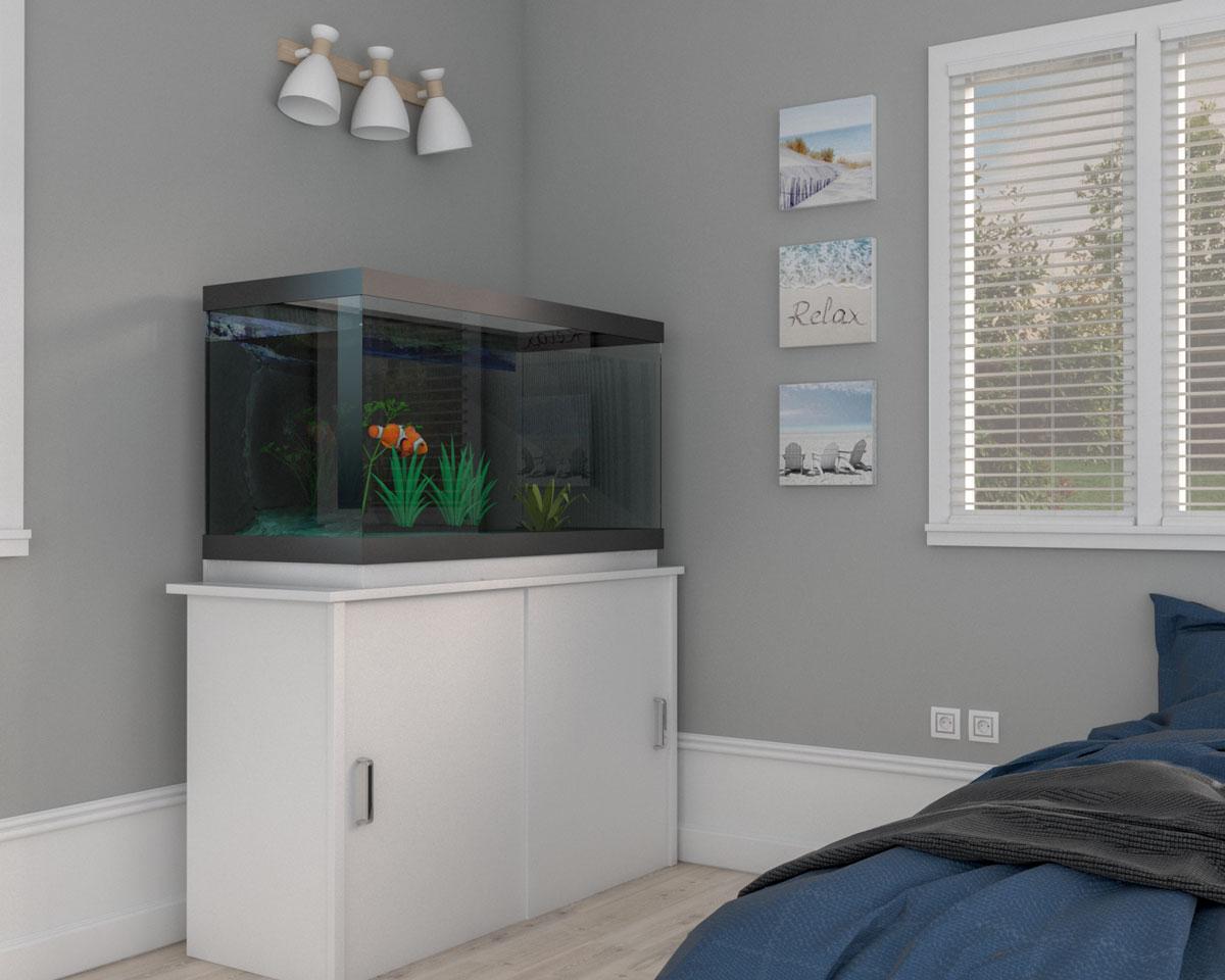 Aquarium in bedroom corner ideas