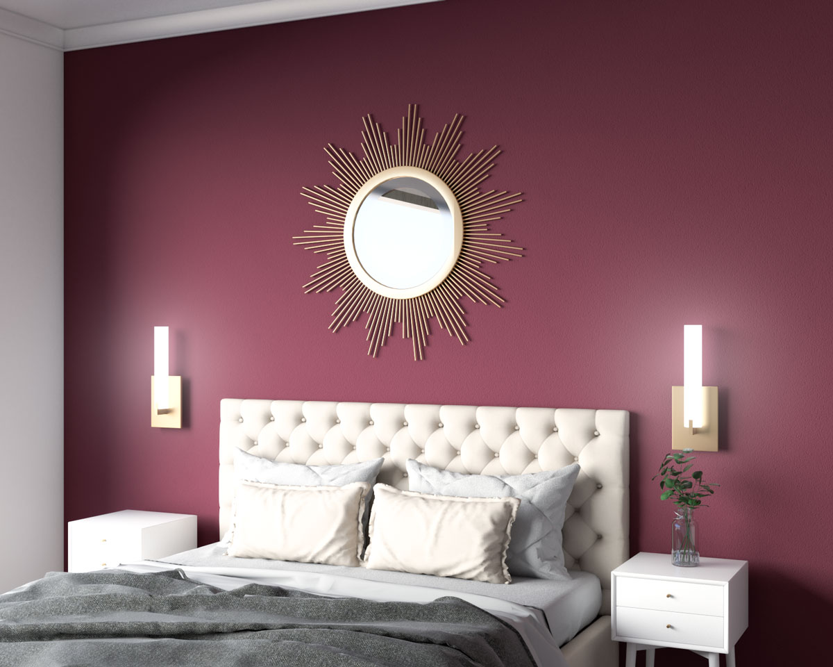 Modern burgundy accent wall ideas