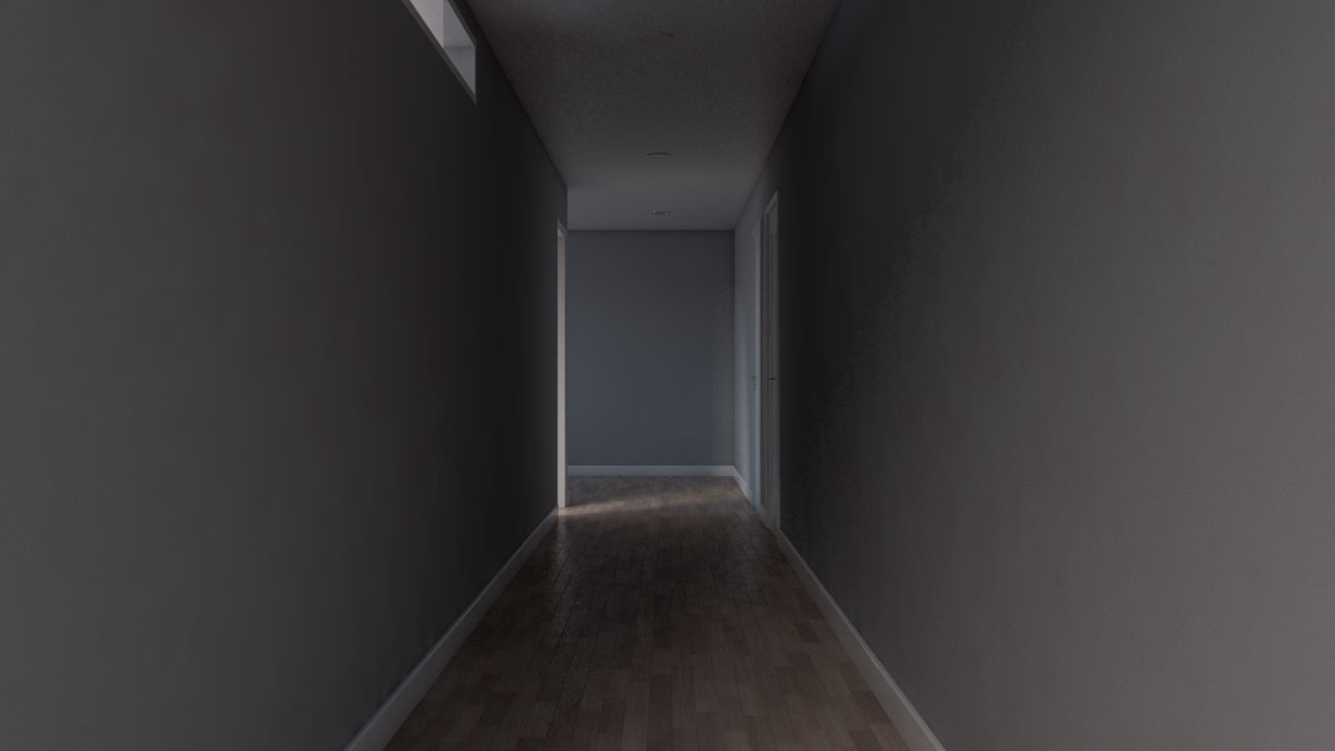 long dark narrow hallway