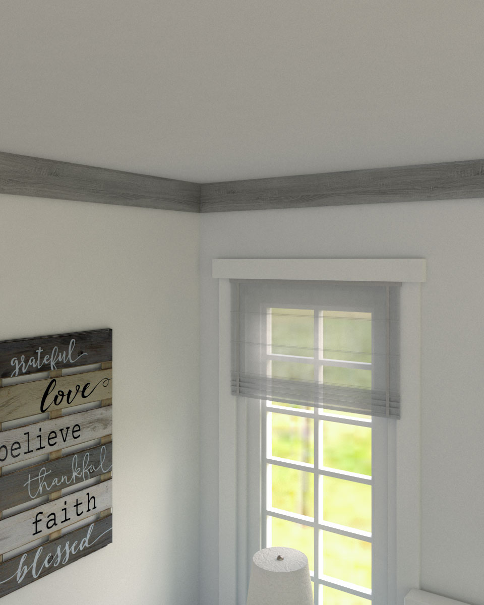 Rustic farmhouse gray crown molding ideas