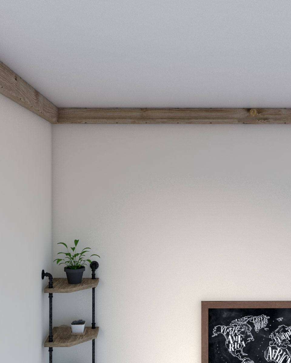 Simple rustic crown molding ideas