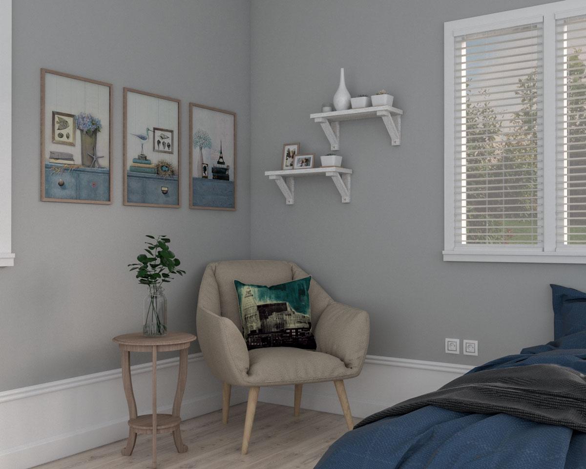 Vintage bedroom corner ideas