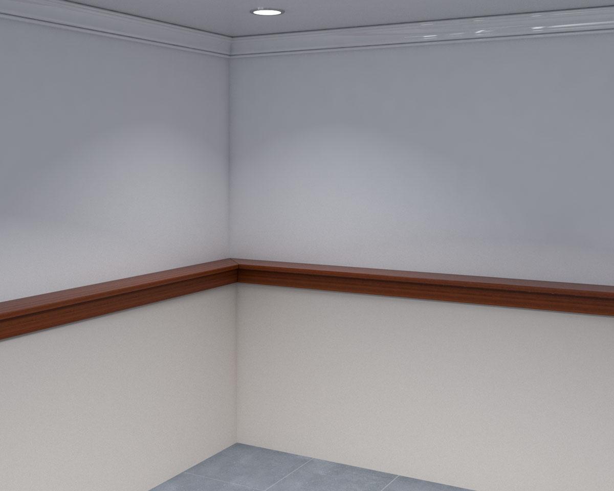 Simple wooden half wall ledge ideas