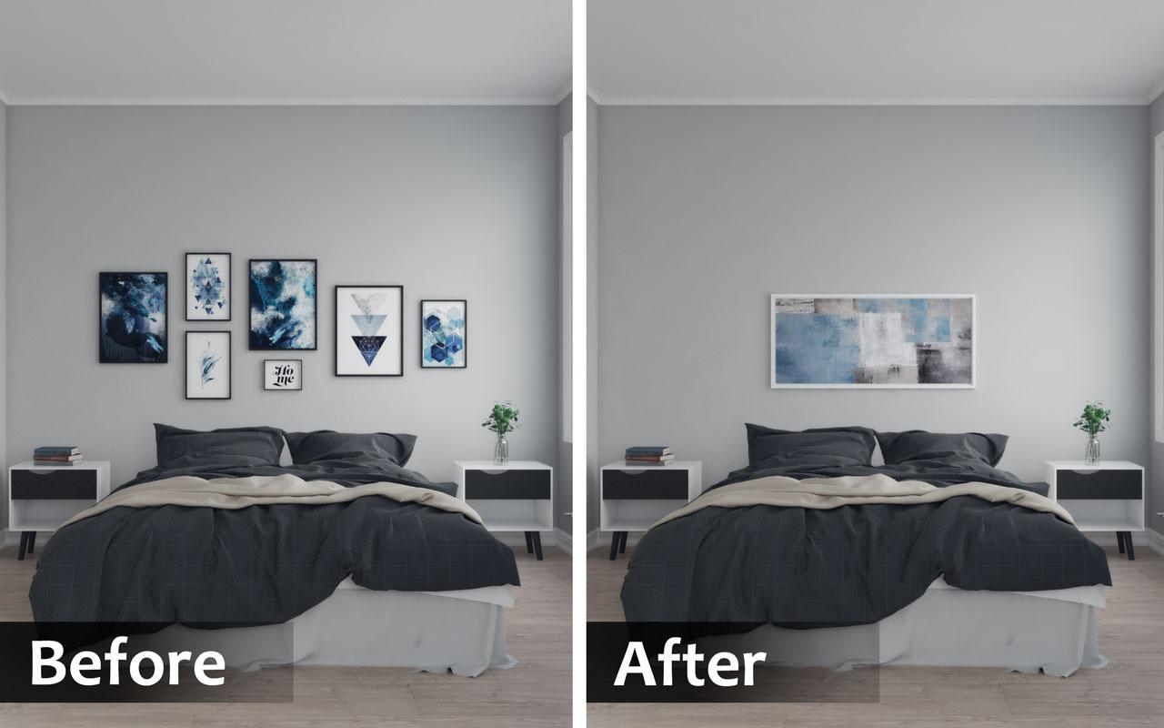 organize bedroom wall
