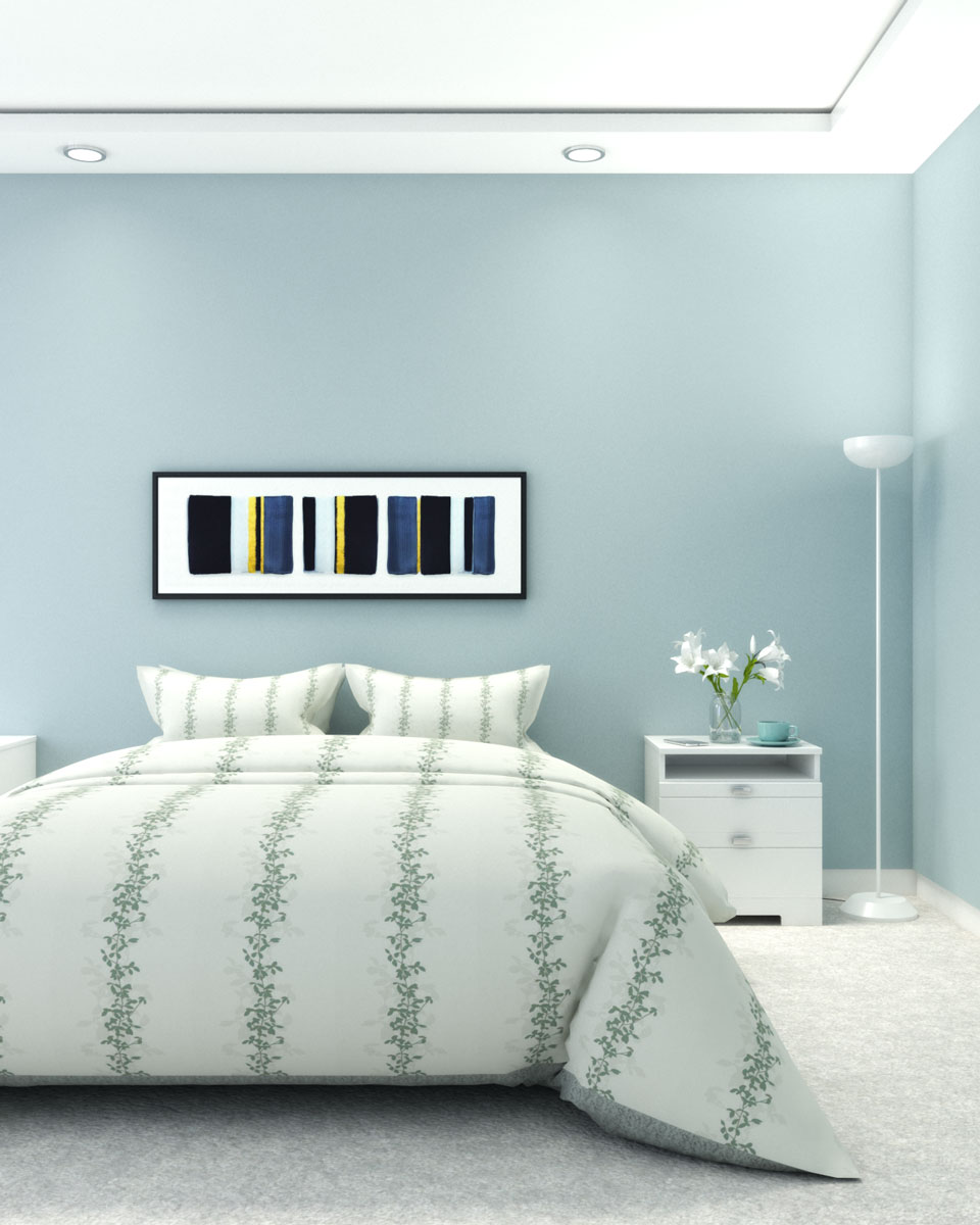 Bedroom with additional lighting