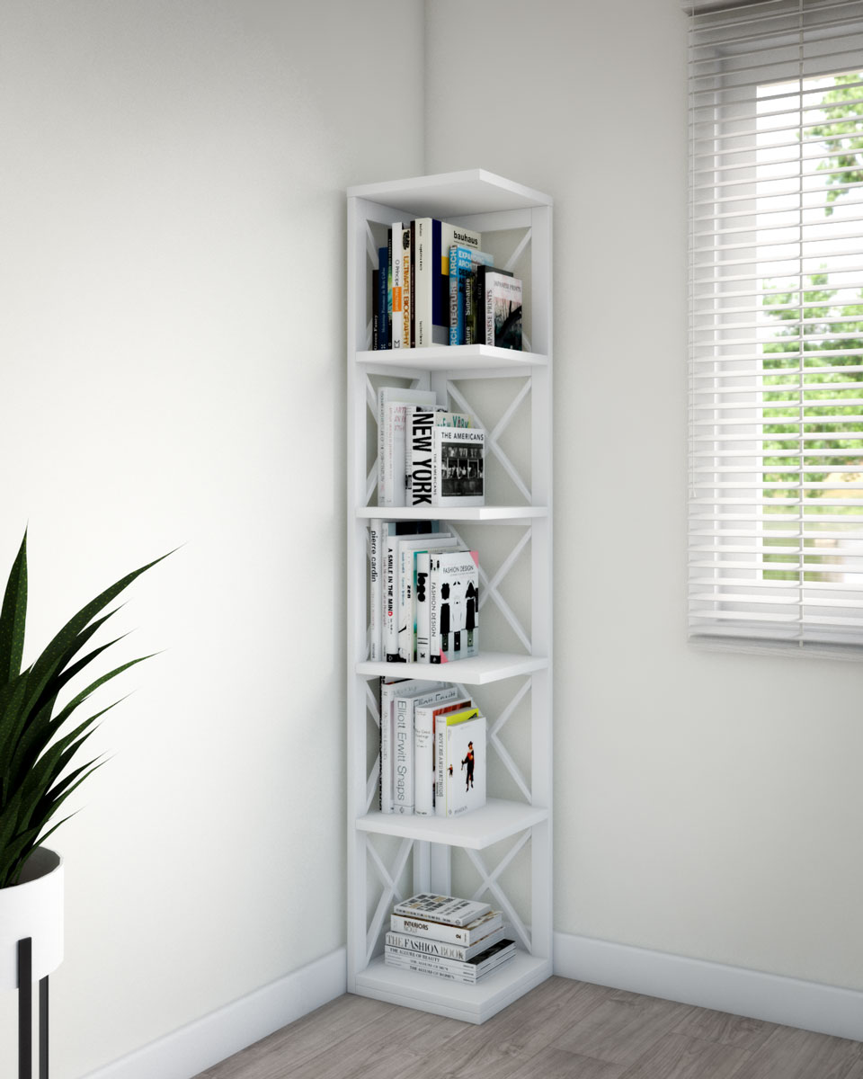 Corner bookshelves ideas