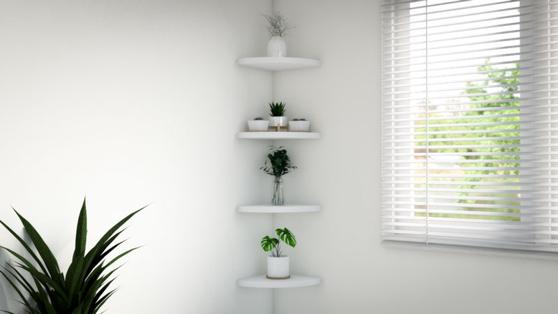 How to Decorate a Corner Shelf – 10 Unique Ideas