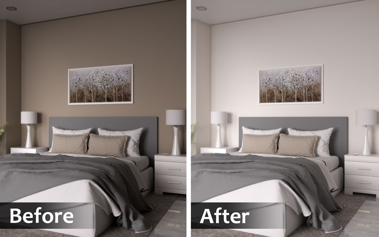 Use lighter wall paint for bigger bedroom