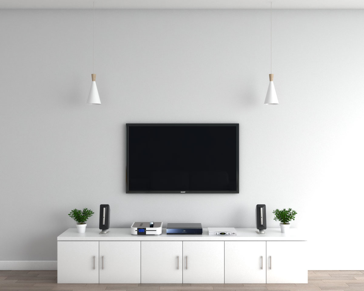 Decorate TV with pendant lamp