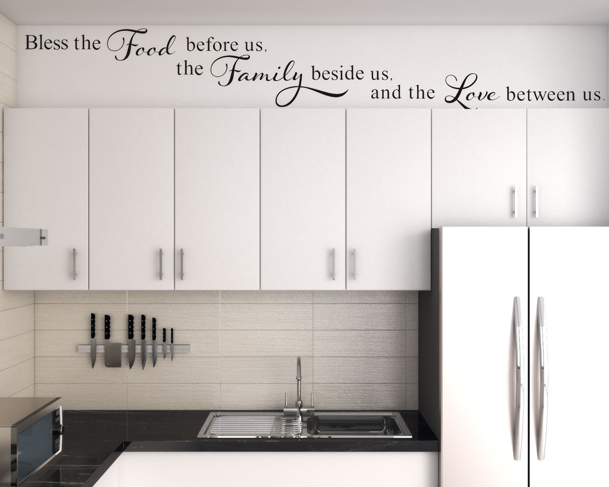 Above kitchen cabinet ideas using Inspirational wall stickers