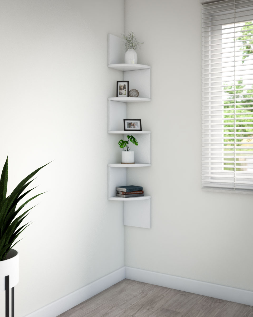 minimalist creative zig-zag shelf