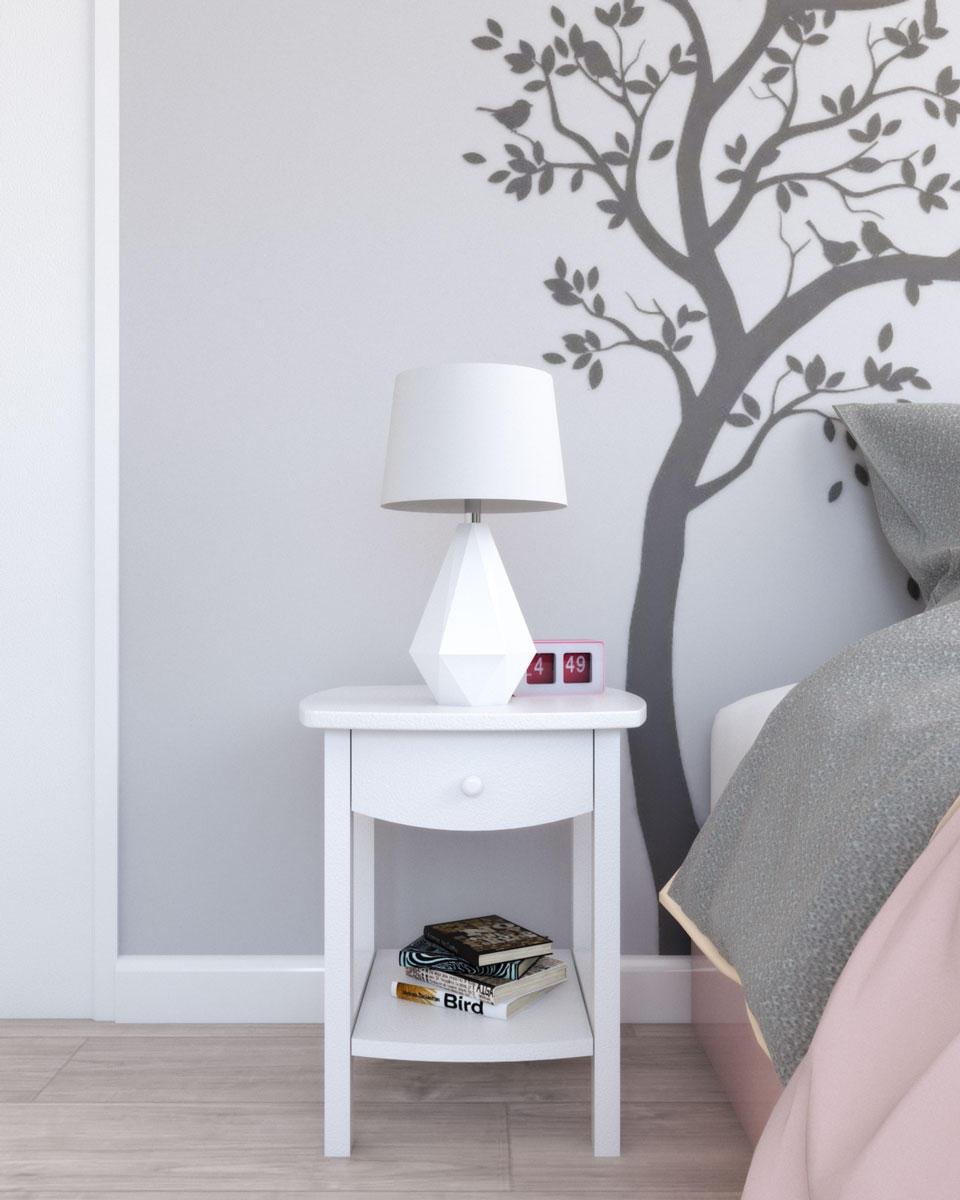 Winsome wood white accent table for nursery decor