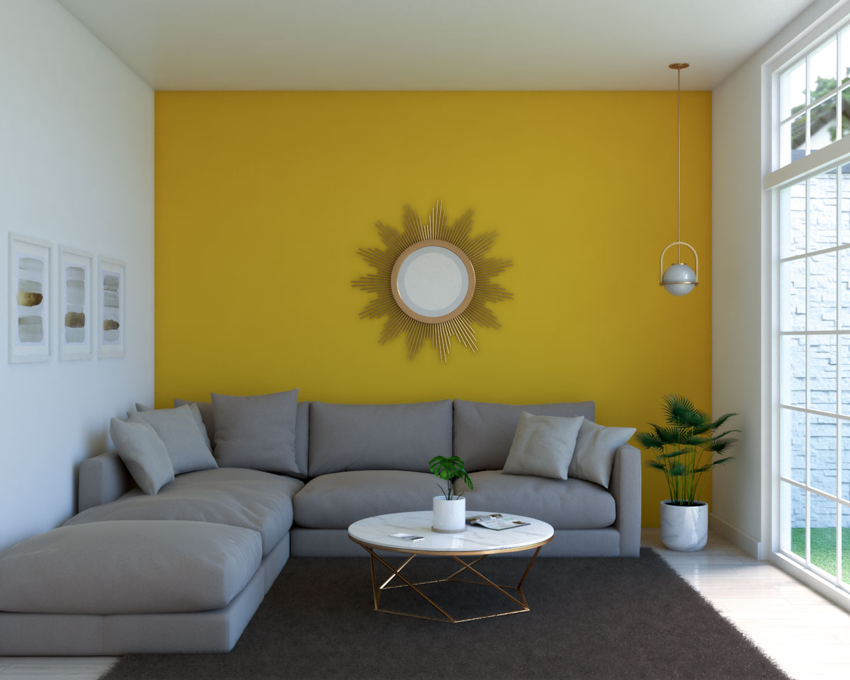 Classic gold and yellow living room ideas