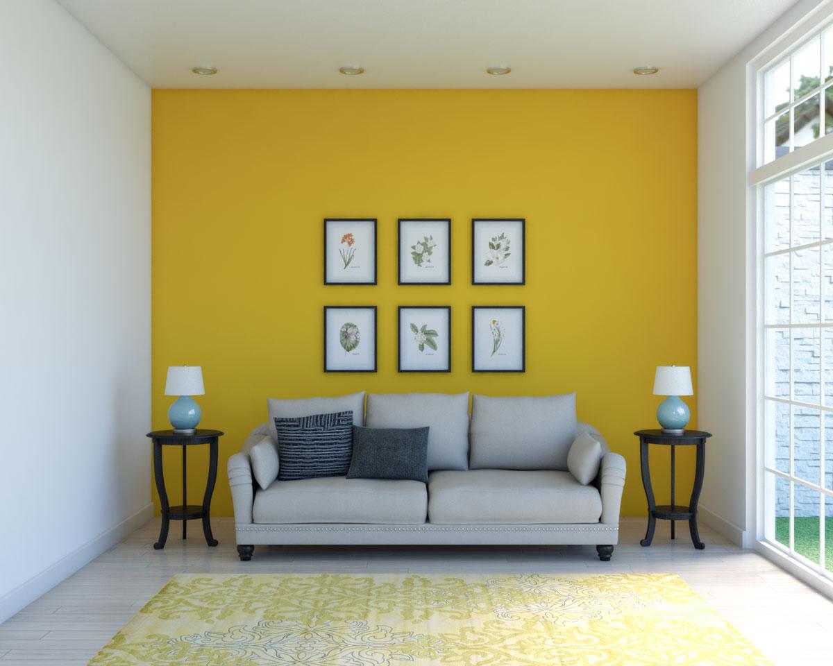 Vintage yellow living room ideas