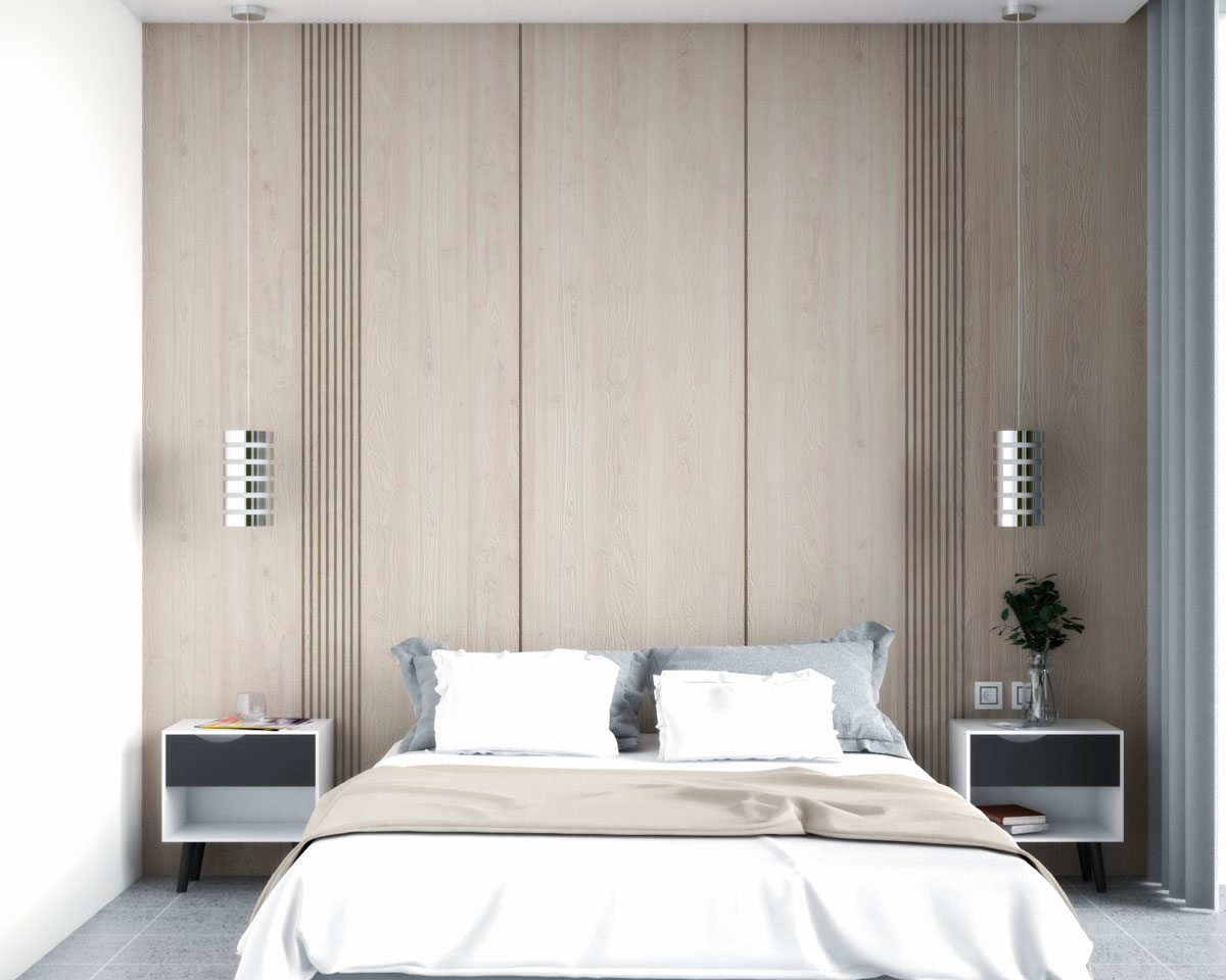 Modern wood panel with simple clean lines