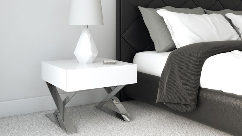 What Color Nightstand with Black Bed?