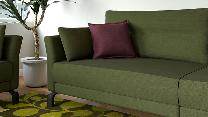 What Color Throw Pillows for Olive Green Couch?