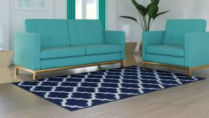 What Color Rug with Teal Couch?