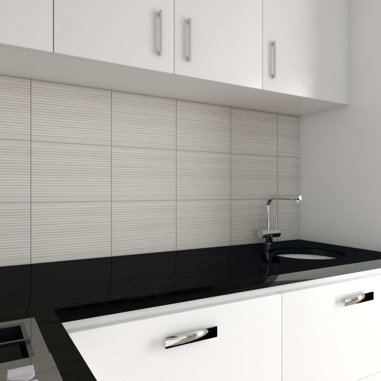 Quartz black kitchen countertops
