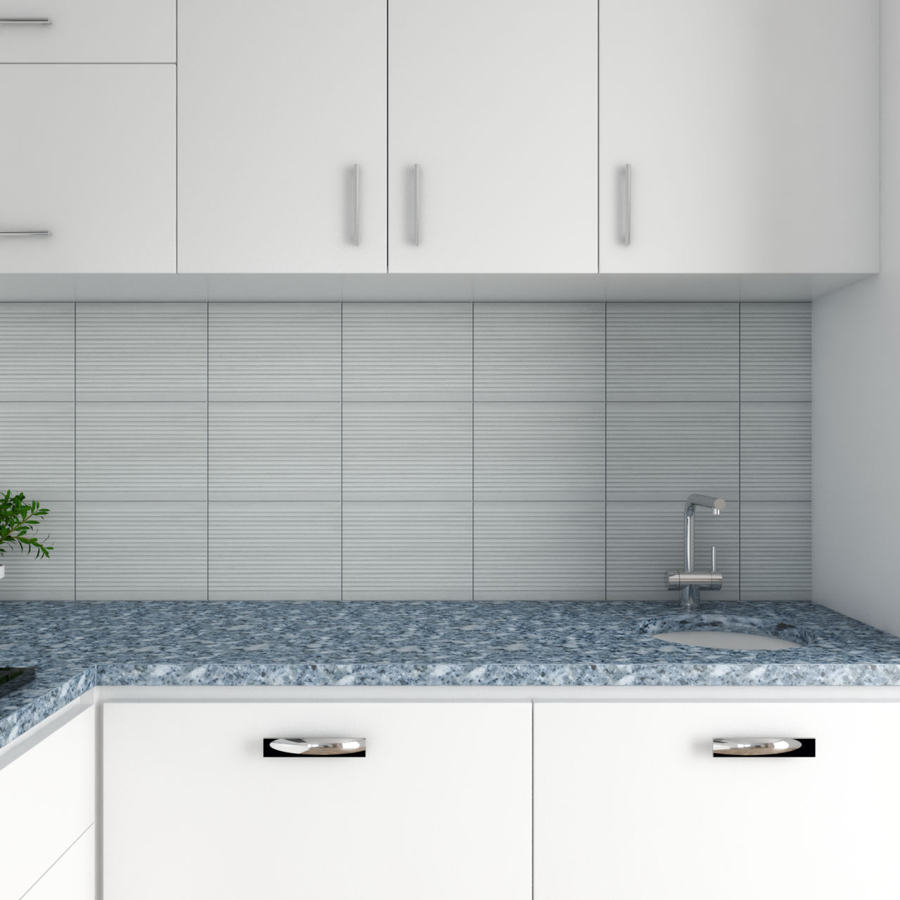 Blue granite kitchen counter