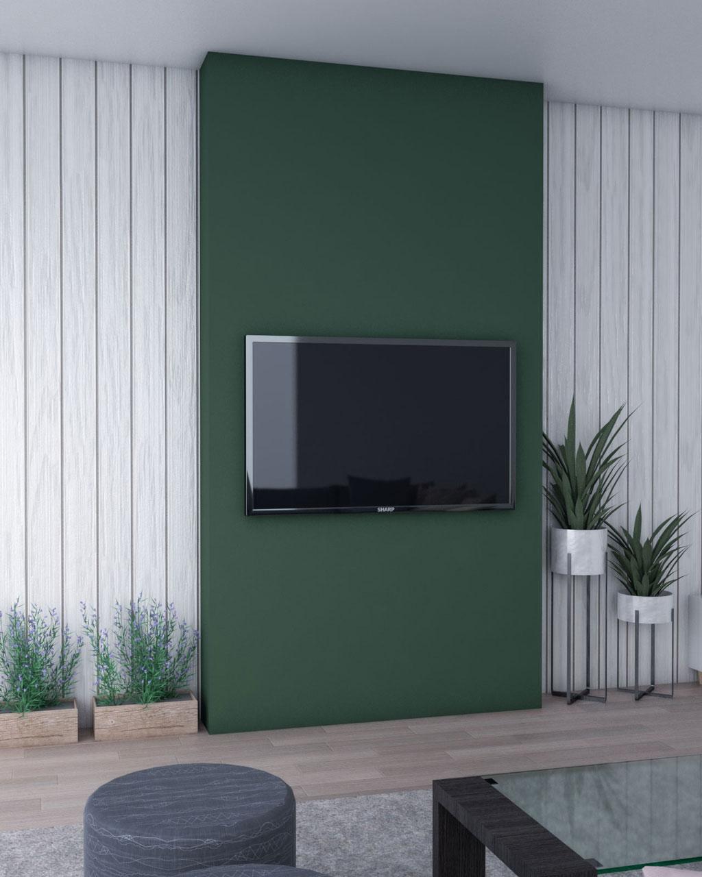 Dark green accent wall ideas