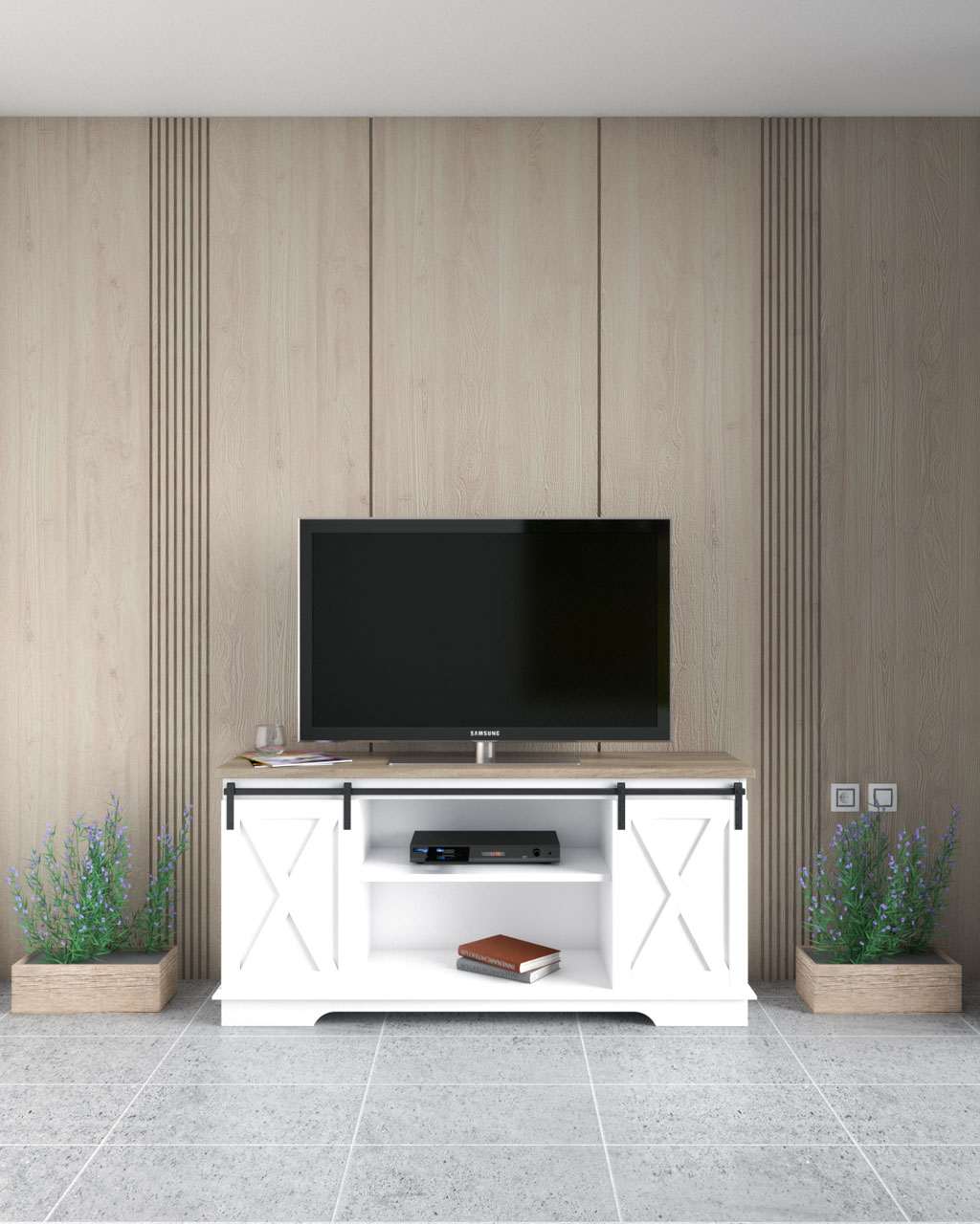 Modern style wooden panel accent wall ideas