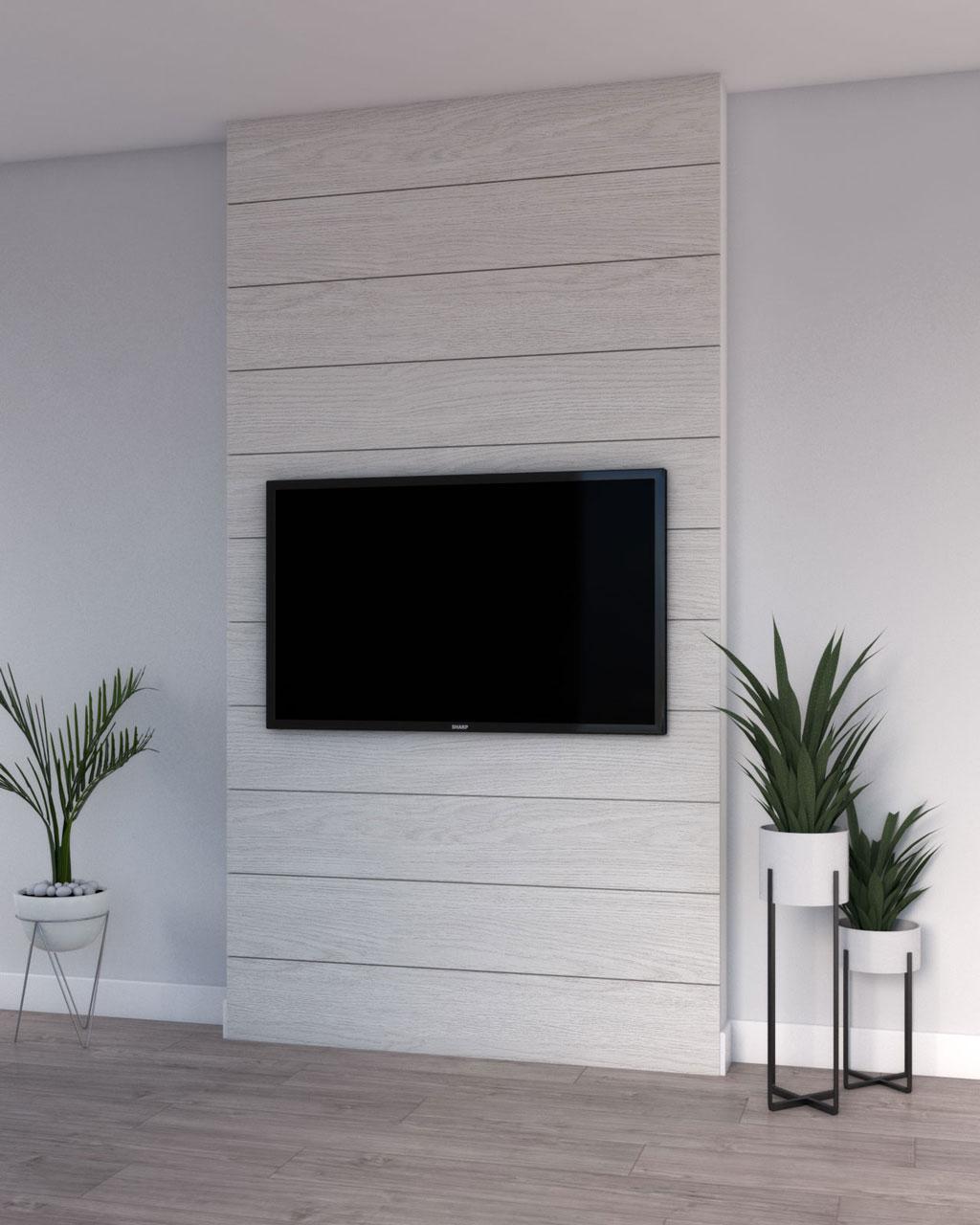 White shiplap accent wall ideas