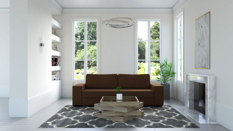 What Color Rug Goes with a Brown Couch?