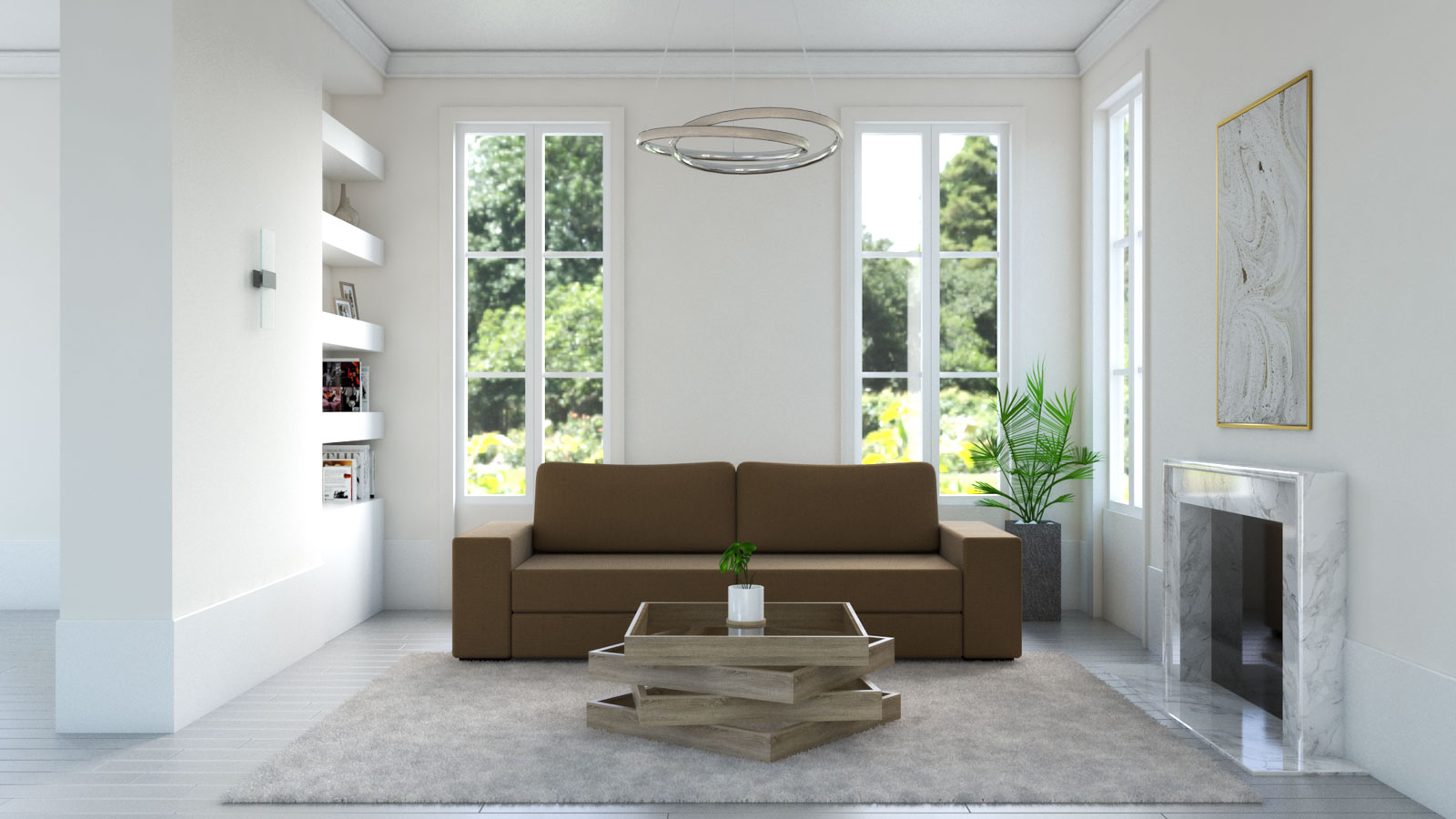 cream rug with brown sofa living room