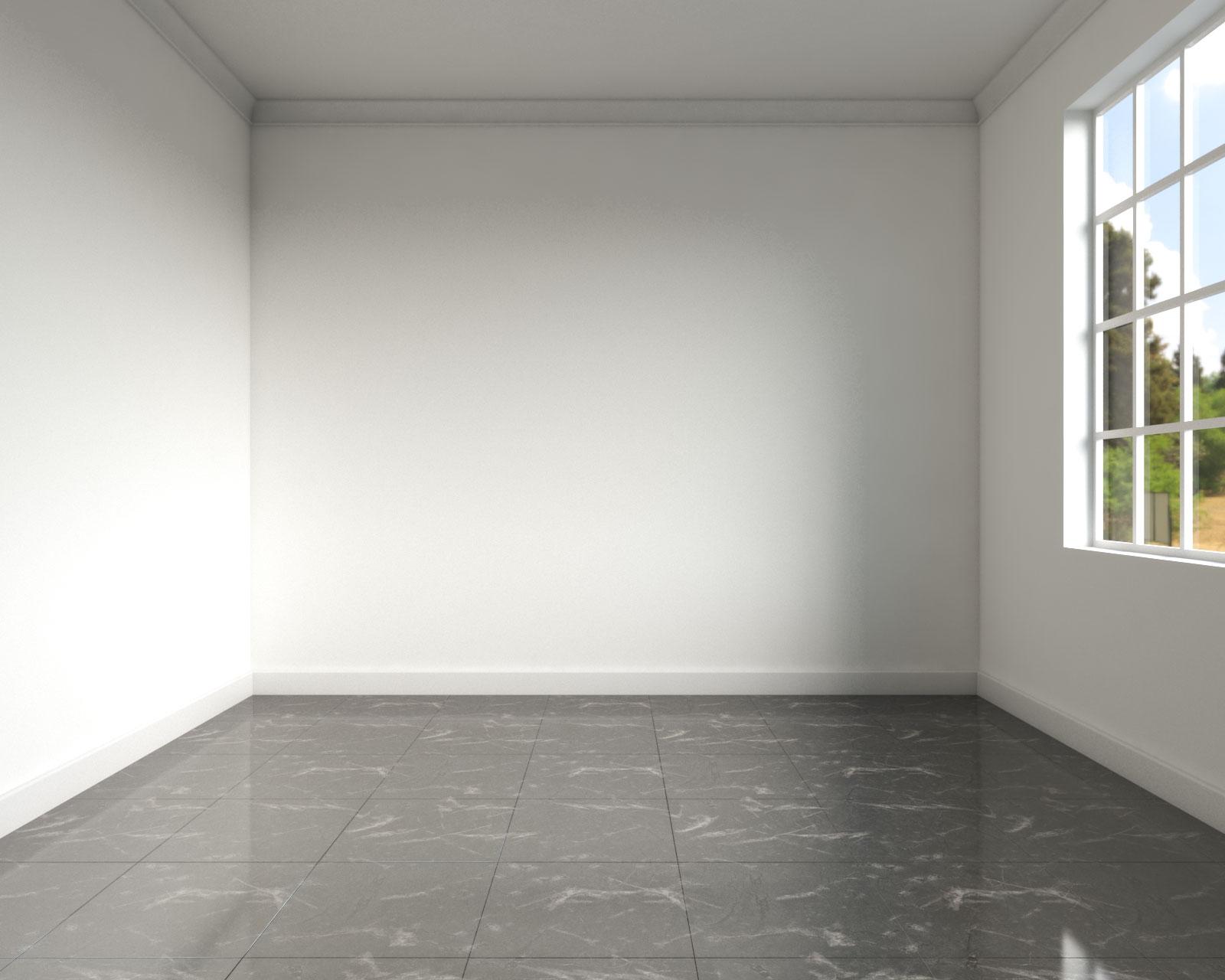 Black glossy tile to make a room look bigger