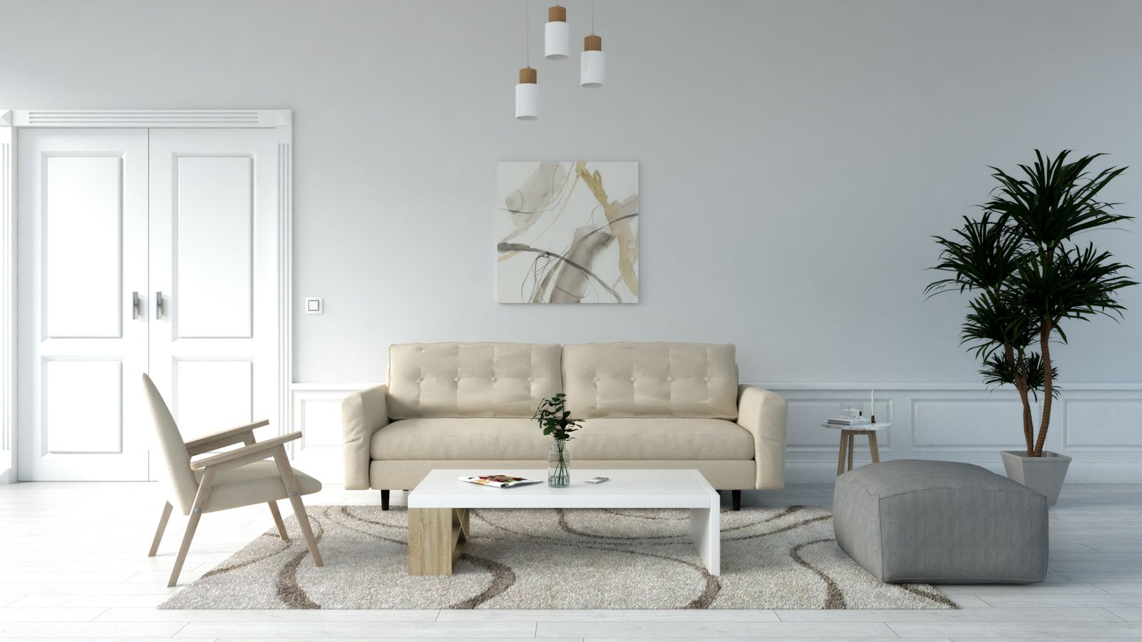 Beige rug with beige couch