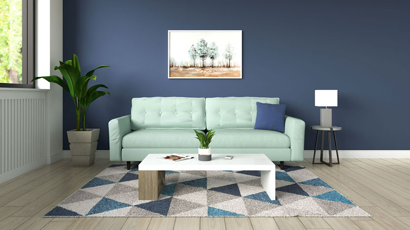 What Color Couch Goes with Blue Wall? (7 Best Color Ideas)
