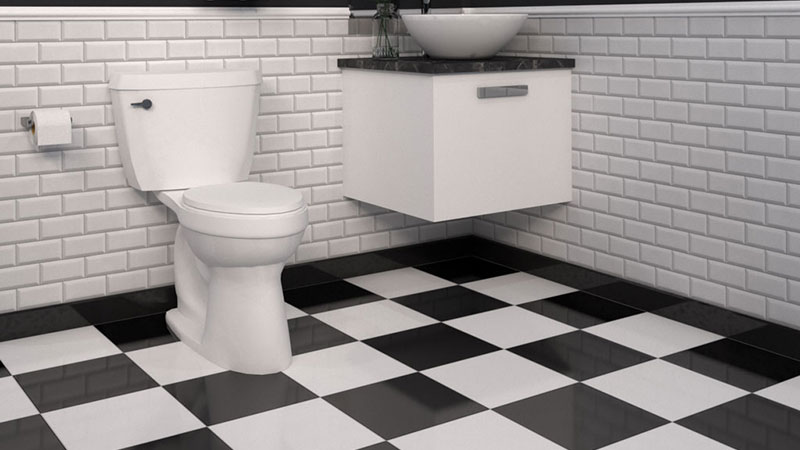 What Color to Paint Bathroom Walls with Black and White Tile Flooring?