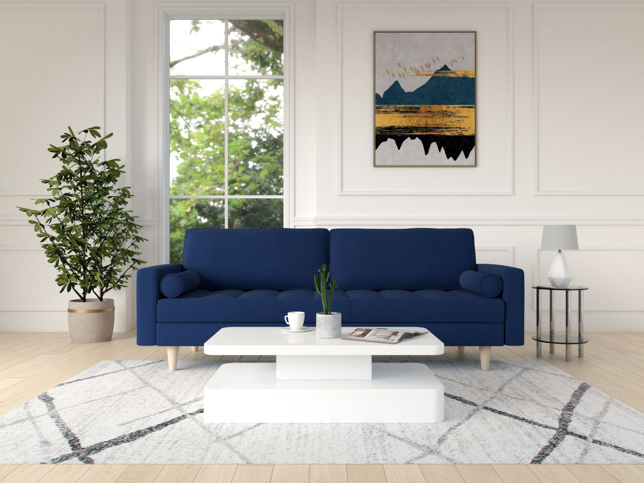 Best coffee table for blue couch : white modern coffee table