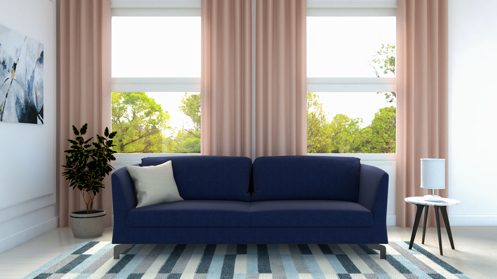 What Color Curtains Go With Blue Couch 10 Interesting Color Ideas Roomdsign Com