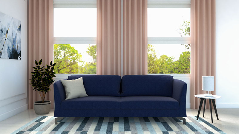 What Color Curtains go with Blue Couch? (10 Interesting Color Ideas)