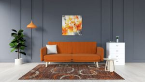 What Color Rug Goes with Orange Couch? (10 Amazing Color Ideas)