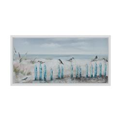 blue ocean beach wall art