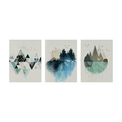 abstract geometric canvas wall art