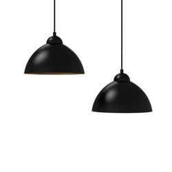 black vintage industrial pendant lamp