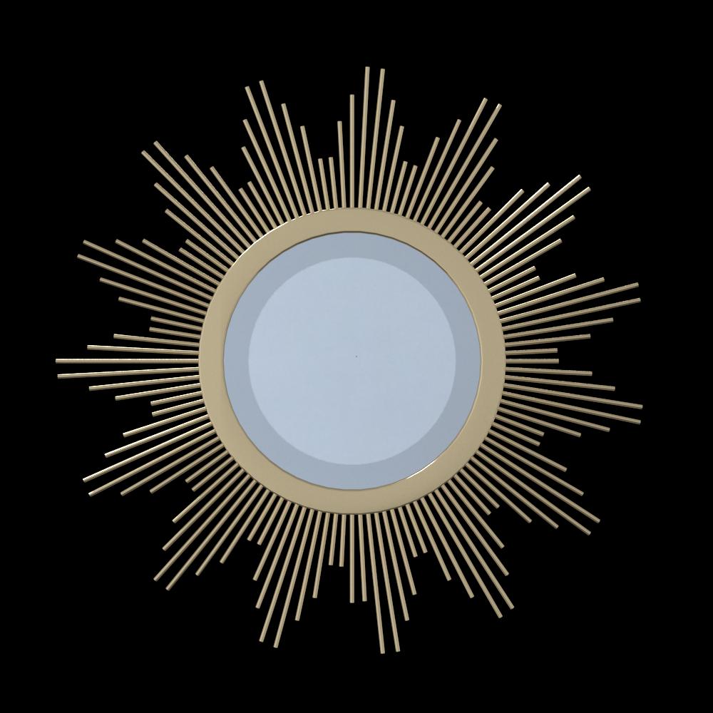 Gold sunburst style wall mirror